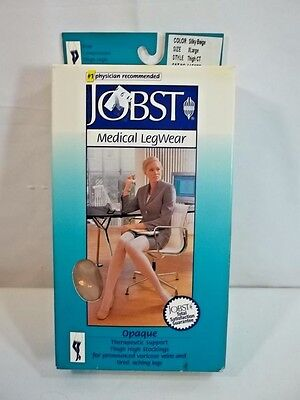 Jobst Opaque Thigh High Compression Stockings XL 20-30 mmHg Silky Beige