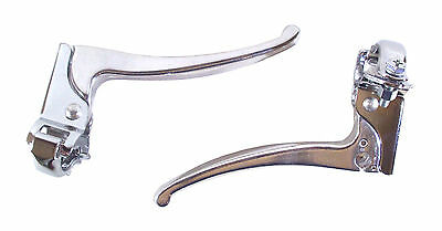Fixie Brake Levers Bike Cycle Vintage Brakes Pair Silver Lever Set Left Right