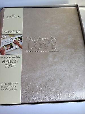 """HALLMARK """"Let There Be Love"""" Leather Memory Photo Album, Wedding, Bridal Shower"""