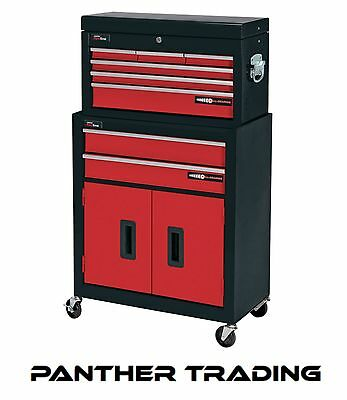 Draper 8 Drawer Red Metal Tool Chest Roller Cabinet Tool Storgage Box - 80927
