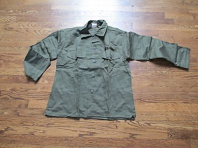 fatigue shirt olive 100% cotton, new old stock  1960's/70's,large