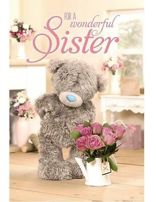 Me To You For A Wonderful Sister Birthday Card Tatty Teddy Bear New Gift