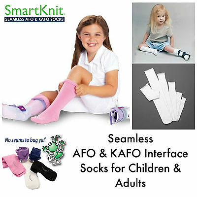 Smartknit Extra Long AFO (Ankle Foot Orthosis) Interface Seamless Socks:Children