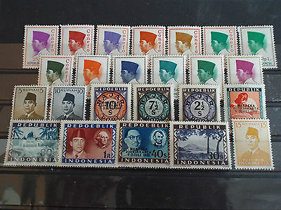 Lot de 24 timbres neuf INDONESIE