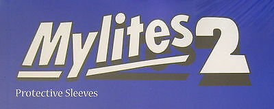 MYLITES2 x 20.SILVER/GOLDEN AGE SIZE 7.75'' x 10.5''.MYLAR COMIC BAGS/SLEEVES.