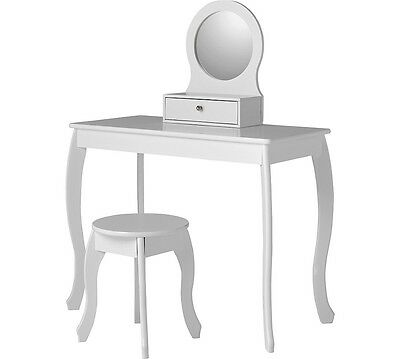 Collection Mia Dressing Table and Stool White Girls Bedroom Furniture Set Mirror