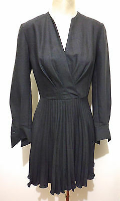 MILA SCHON VINTAGE '80 Abito Vestito Donna Lana Wool Woman Dress Sz.M - 44