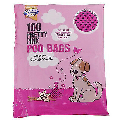 Armitage Good Boy Pink Dog Poo Poop Waste Bags 100pk - Scented with Tie Handles