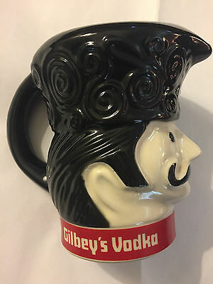 Vintage Gilbey's Vodka Pub Jug Pitcher