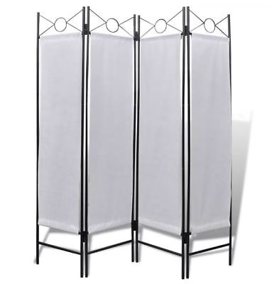 White Folding Paravent 4 Panel Changing Room Screen Separator Divider Dressing