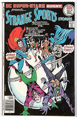 DC Super-Stars #10 with Strangest Sports Stories With JLA , Very Fine Condition.