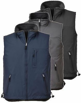 PORTWEST S418 black, grey or navy RipStop reversible bodywarmer size XS-3XL