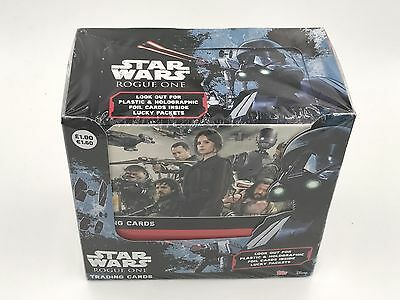 Topps Star Wars ROGUE ONE Trading Cards - Full Box (36 Packets)