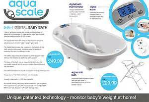 Aquascale 3 in 1 Digital Baby Scale, Thermometer & Bath
