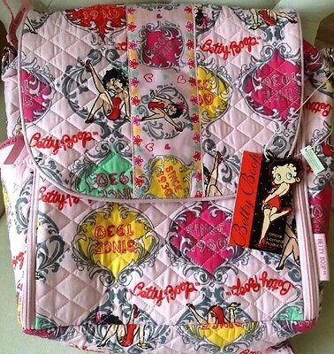 Offical Licensend Betty Boop Diaper Bag Backpack #BBCT-1498