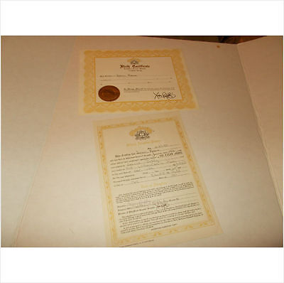 CABBAGE PATCH SOFT SCULPTURE BIRTH CERT/ADOPT PAPER IVORY ed 85 pic 1 set