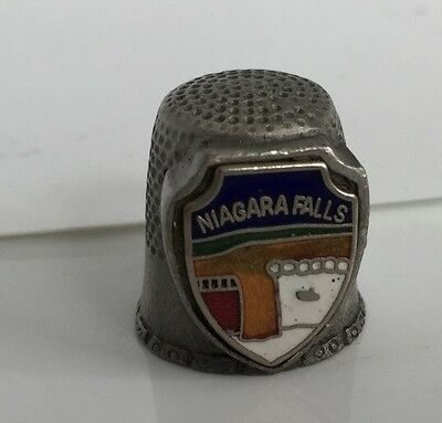 Niagara Falls Pewter Thimble Collectable Makes a very nice gift!