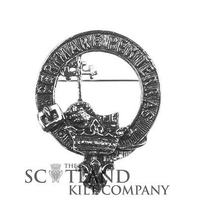 Scottish Made Macdonald of the Isles Clan Crested Boxed Cap Badge by Art Pewter