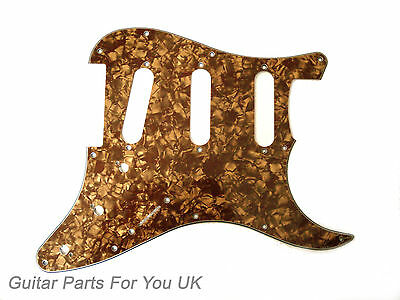 Gold Pearl 4 ply SSS scratch plate pick guard for stratocaster strat ST NEW