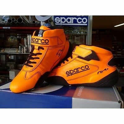 Sparco Racing Shoes Boots Schuhe Fia 8856-2000 Orange Hangaroo Leather