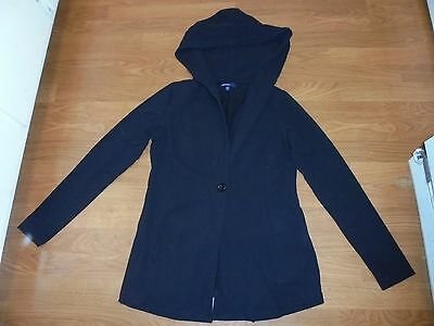 Gap Maternity hooded black jacket with one button size XS