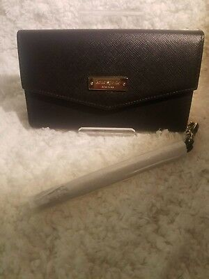 Kate Spade New York Black Leather Saffiano Wallet Wristlet Case
