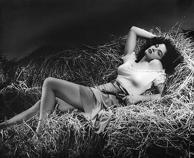 Jane Russell The Outlaw Film Actress Glossy Black & White Photo Picture Print A4