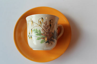 Clarice Cliff Coffee Cup Wheat Ear Designs On Windsor Shape Royal Staffordshire