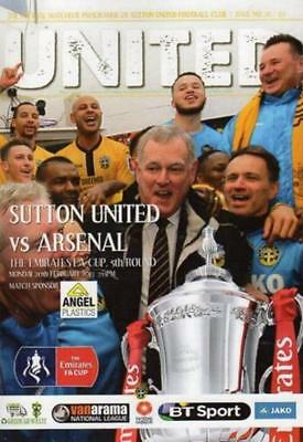 2016/17 - SUTTON UNITED v ARSENAL (FA CUP 5th ROUND - 20th February 2017)