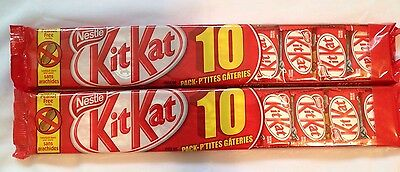 20 Bars x 11.5g Nestle KitKat Chocolate Wafer Bar Snack Canadian Candy Sweet