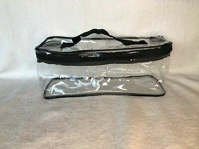*new* Large Clear Zippered Cosmetic Vinyl Plastic Make-Up Bag Pouch Storage Case