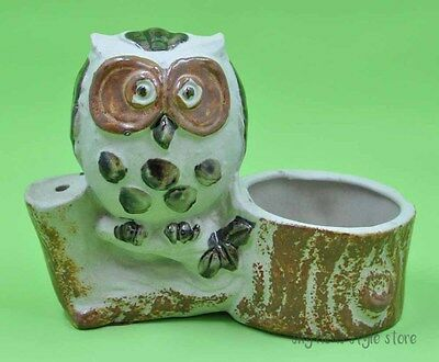 Vintage Owl Votive Incense Holder Counterpoint San Francisco Japan Pottery