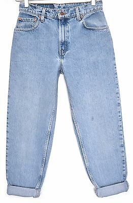 Vintage Levis 551 High Waisted RELAXED Tapered Blue MOM Jeans Size 8 W26 PETITE