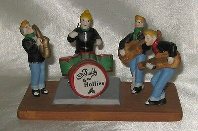 1998 Lemax Buddy and The Hollies Porcelain Figurine