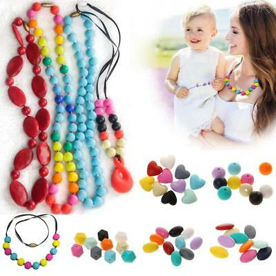 Phenovo Silicone Teething Necklaces Beads for Women to Make Own Necklace