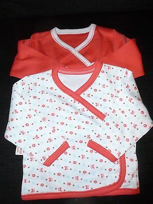 baby girls  pack of 2 rose pink and white  cotton  cardigan 0-3 months