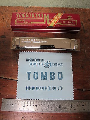 Vintage Tombo Dragon-fly Brand DeLuxe Harmonica Special Made For Concert Dm