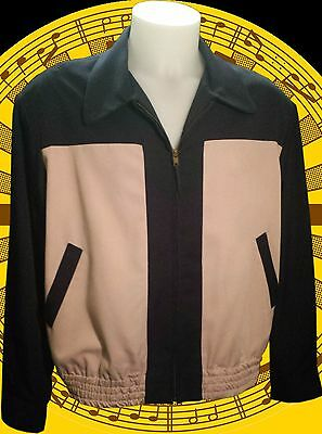 RARE Vintage 1950's two tone Blue and Lilac Gaberdine Ricky Jacket Rock n Roll