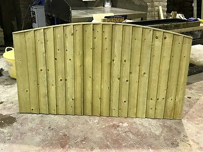 super heavy duty bow top fence panels pressure treated