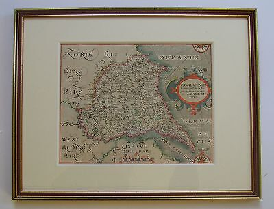Yorkshire East Riding: antique map by Saxton & Hole, 1610/37