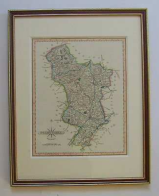 Derbyshire: antique map by John Cary, c1809