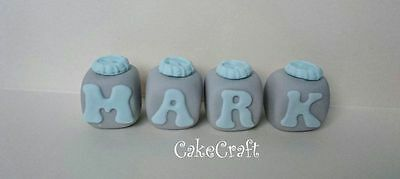 Name blocks,personalised letters christening,buttons cake decorations toppers