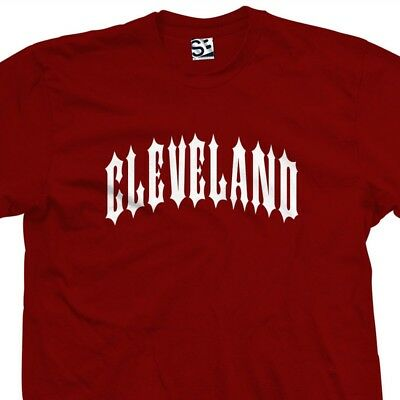 Cleveland Outlaw T-Shirt - Metal Iron Ohio C-Town Biker Tee - All Size & Colors