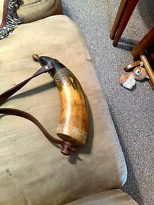 Powder Horn Engraved traditional New