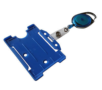 1 Identification tag blue with Card holder Hard plastic in Cross or Portrait