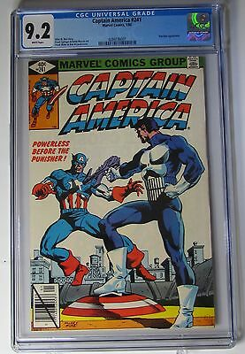 Cgc 9.2 (Nm & Wp) - Captain America #241- Punisher - Marvel 1/1980 -  Free S&h