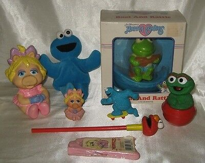 Vintage Sesame Street Muppets Collectibles Lot