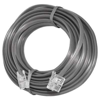 25 FT RJ11 4C Modular Telephone Extension Phone Cord Cable Line Wire Satin Grey