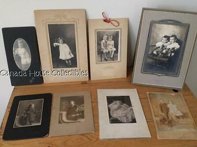 Collection of Antique Cabinet Photo's of Babies & Children