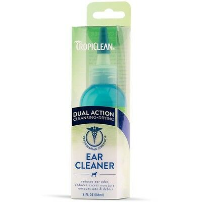Ear Cleaner Dual Action ~ Dogs & Cats ~ Remove Wax, Debris & Odour ~ Tropiclean